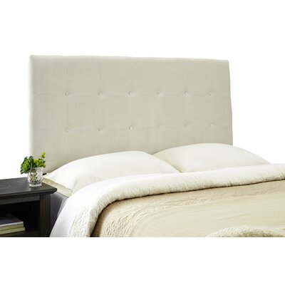 Dublin Contemporary Adjustable Wood Frame Upholstered Panel Headboard Size: Queen, Upholstery: Ivory