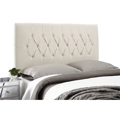 Dublin Adjustable Foam Upholstered Panel Headboard Size: Full, Upholstery: Ivory