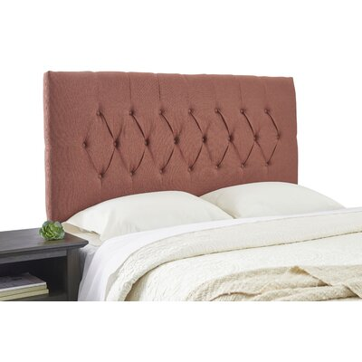Dublin Adjustable Foam Upholstered Panel Headboard Size: Full, Upholstery: Terra Cotta