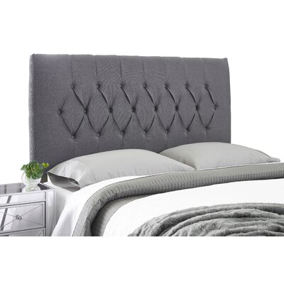 Dublin Adjustable Foam Upholstered Panel Headboard Size: Full, Upholstery: Charcoal Gray