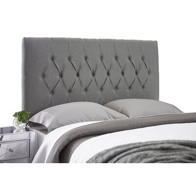 Dublin Adjustable Foam Upholstered Panel Headboard Size: Full, Upholstery: Gray