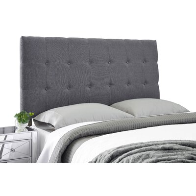 Dublin Adjustable Upholstered Panel Headboard Size: Queen, Upholstery: Charcoal Gray