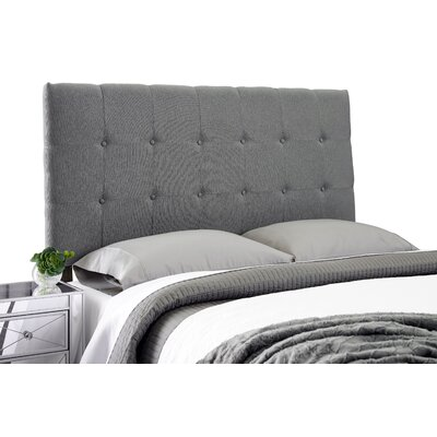 Dublin Adjustable Upholstered Panel Headboard Size: Full, Upholstery: Gray