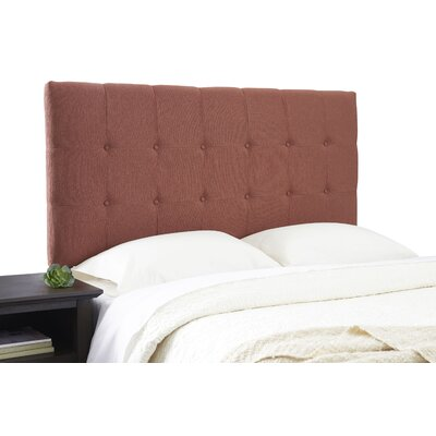 Dublin Adjustable Upholstered Panel Headboard Size: Full, Upholstery: Terra Cotta