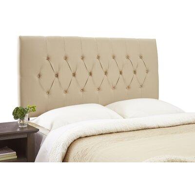 Dublin Contemporary Adjustable Upholstered Panel Headboard Size: Full, Upholstery: Khaki