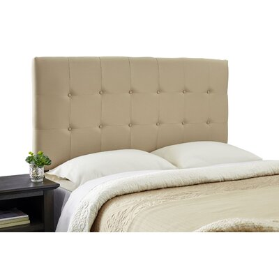 Dublin Modern Adjustable Foam Upholstered Panel Headboard Size: Full, Upholstery: Khaki