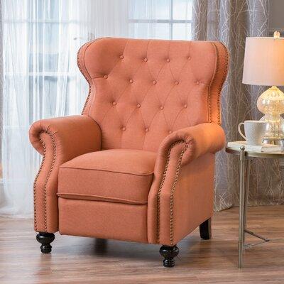 Leverette Recliner Upholstery: Orange