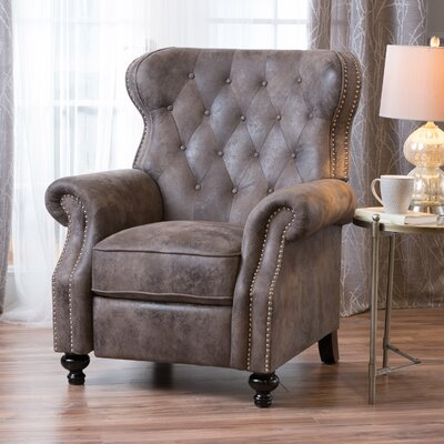 Leverette Recliner Upholstery: Warm Stone