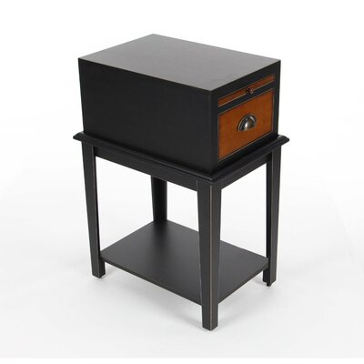 Albreda Wood End Table Finish: Black