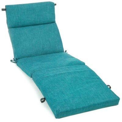 Polyester Outdoor Chaise Lounge Cushion Color: Azul