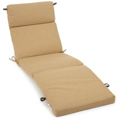 Polyester Outdoor Chaise Lounge Cushion Color: Wheat