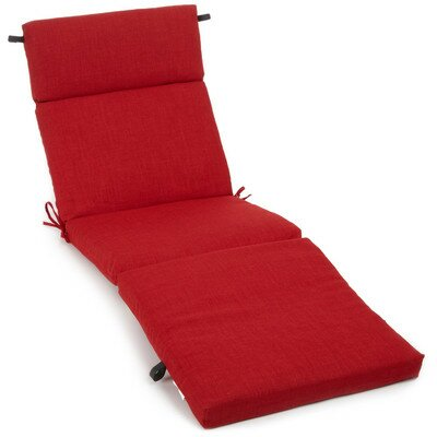 Polyester Outdoor Chaise Lounge Cushion Color: Papprika