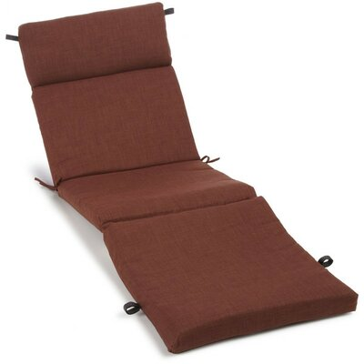 Polyester Outdoor Chaise Lounge Cushion Color: Cocoa
