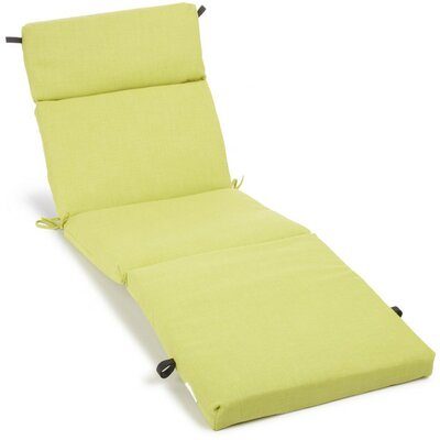 Polyester Outdoor Chaise Lounge Cushion Color: Lime