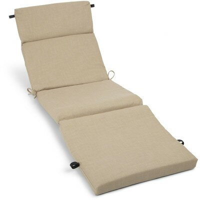 Polyester Outdoor Chaise Lounge Cushion Color: Sand Stone