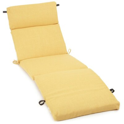 Polyester Outdoor Chaise Lounge Cushion Color: Lemon