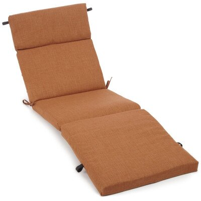 Polyester Outdoor Chaise Lounge Cushion Color: Mocha
