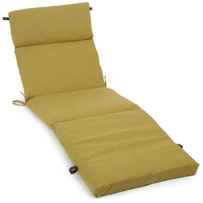 Polyester Outdoor Chaise Lounge Cushion Color: Avocado