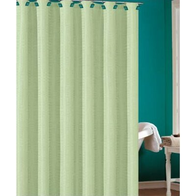 Laurelton Shower Curtain Color: Green