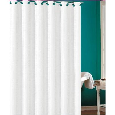 Laurelton Shower Curtain Color: White