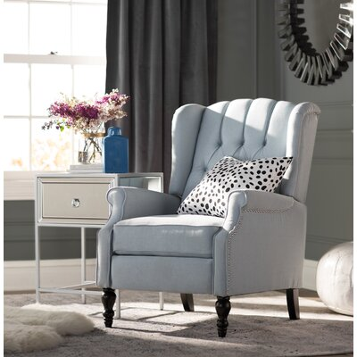 Henley Manual Recliner Upholstery: Light Sky