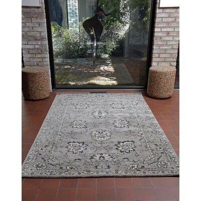 Eugenie Hand-Tufted Brown Area Rug Rug Size: 8 x 10