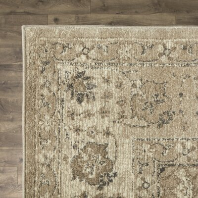 Adelbert Taupe Area Rug Rug Size: Round 93