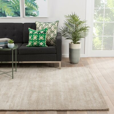 Windridge Taupe/Tan Solid Area Rug Rug Size: Rectangle 5 x 8