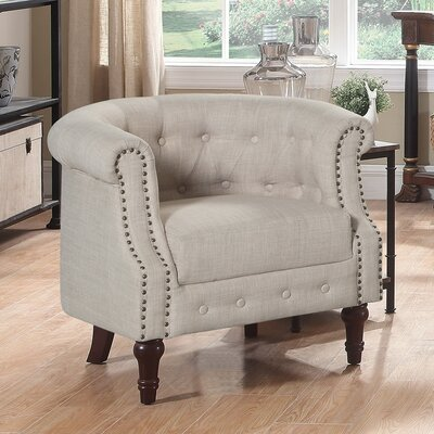 Argenziano Chesterfield Chair Upholstery: Beige