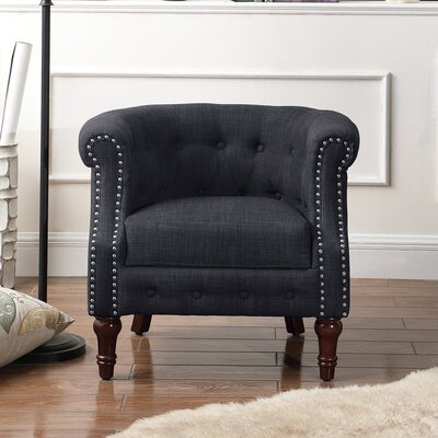 Argenziano Chesterfield Chair Upholstery : Charcoal