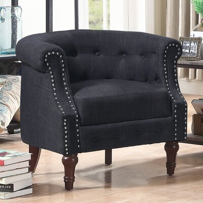 Argenziano Chesterfield Chair Upholstery: Charcoal