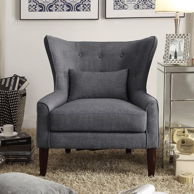 Beacon Falls Wingback Chair Upholstery: Gray