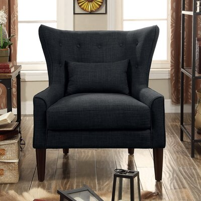 Millett Wingback Chair Upholstery: Charcoal