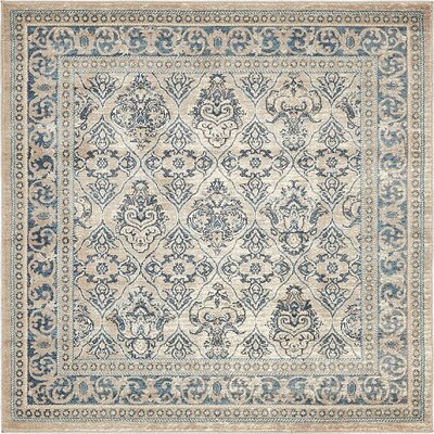 Basswood Beige Area Rug Rug Size: Square 8