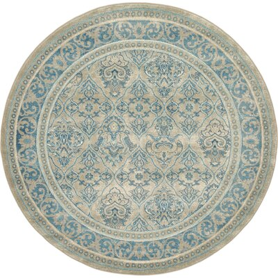 Basswood Beige Area Rug Rug Size: Round 6