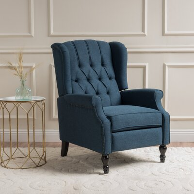 Henley Manual Recliner Upholstery: Dark Blue