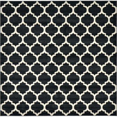 Moore Black Area Rug Rug Size: Square 10
