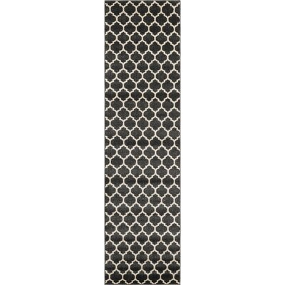 Moore Black Area Rug Rug Size: Runner 27 x 198