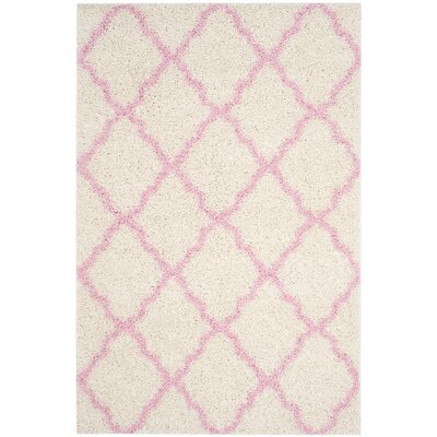 Brentwood Beige/Pink Area Rug Rug Size: Rectangle 51 x 76