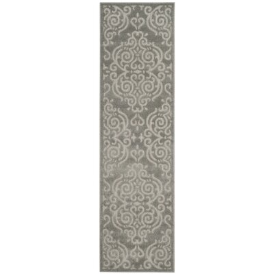 Prussia Gray Area Rug Rug Size: Runner 2'3