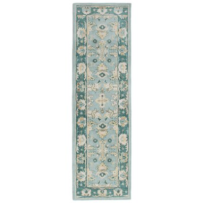Petra Hand-Tufted Aquamarine Area Rug Rug Size: Runner 23 x 8
