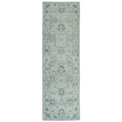 Eugenie Hand-Tufted Blue Area Rug Rug Size: Runner 23 x 8