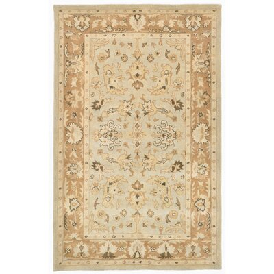 Petra Hand-Tufted Beige Area Rug Rug Size: 5 x 8