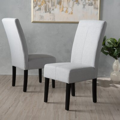 Back East Side Upholstered Dining Chair Upholstery: Light Gray