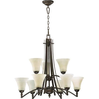 Eastchester 9-Light Shaded Chandelier