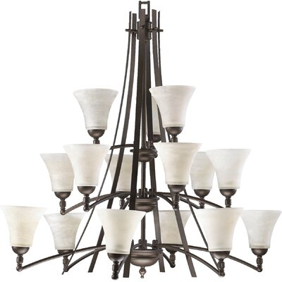 Eastchester Modern 15-Light Shaded Chandelier