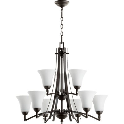 Eastchester Modern 9-Light Shaded Chandelier