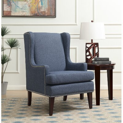 Apple Valley Wingback Chair Upholstery: Blue