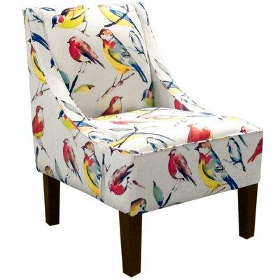 Goldhorn Armchair Upholstery: Birdwatcher Summer, Nailhead Detail: No Trim