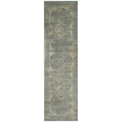Obrien Gray Area Rug Rug Size: Runner 22 x 8